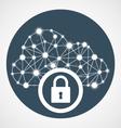 Cloud computing access - internet communication vector image vector image
