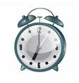 Retro Alarm Clock Metallic Vintage Clock vector image
