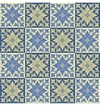 Hand drawing seamless pattern for tile in blue and vector image