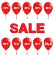 Red balloons with sale Red balloons with sale vector image