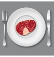 Fresh meat vector image