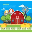 Big Farm Flat Composition vector image