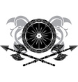 Vikings shield vector image