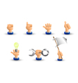 Arm Business hand A set of seven hand gestures 3D vector image