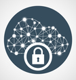 Cloud computing access - internet communication vector image