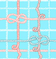 Engraved ropes and knots vector image