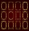 golden calligraphic ornamental frames vector image
