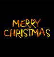 Golden inscription merry Christmas vector image