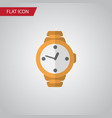 isolated wristwatch flat icon timer vector image