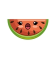 kawaii watermelon healthy juicy vector image