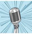 Retro style microphone pop art vector image
