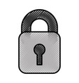 safe secure padlock icon vector image