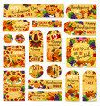 thanksgiving day sale poster banner label vector image
