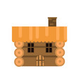 rustic wooden log cabin vector image
