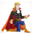 prince ask charming princess hand in marriage vector image