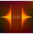 Orange neon stereo equalizer vector image