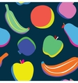 Pop art fruits pattern vector image