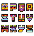 Mexican alphabet vector image