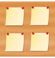 blank notes pinned to wood vector image