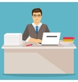 Businessman in office flat vector image