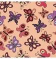 Cartoon butterflies fly vector image