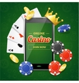 Casino Online Mobile Concept vector image