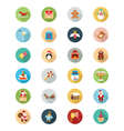 Christmas Flat Icons 2 vector image
