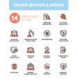 Device service repair - modern single line vector image
