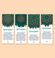 flower banner template with mandala floral pattern vector image