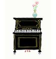 Piano card hand drawn vector image
