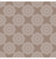 Seamless vintage pattern with floral ornament vector image