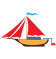 Toy yacht vector image