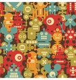 Robot and monsters modern seamless pattern vector image vector image