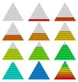 Progress bars set triangles vector image vector image