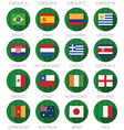 soccer flag icons vector image vector image