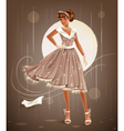 retro dress vector image