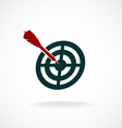 Target icon with dart in a center vector image