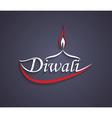 Art Diwali text design vector image
