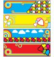funky banners vector image