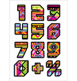 mexican numbers vector image