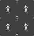 jump rope icon sign Seamless pattern on a gray vector image