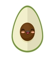 kawaii cute avocado funny icon vector image