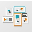 Modern Picture Frame Set Hanging on Wall vector image