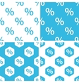 Percent patterns set vector image