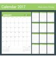 Print Template Monthly Calendar Planner vector image