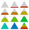 Progress bars set triangles vector image