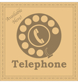 Rotary phone sign vector image