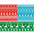 set of abstract seamless christmas backgrounds vector image