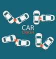 set of car crash and accidents vector image