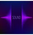 Violet neon stereo equalizer vector image